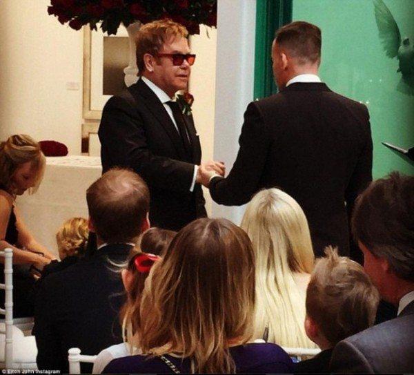 Elton John boda