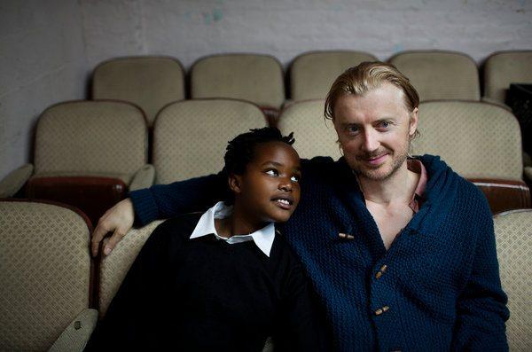 John con su hijo