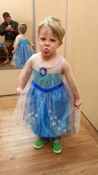niño princesa Frozen