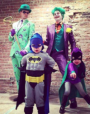 La familia en Halloween del pasado año