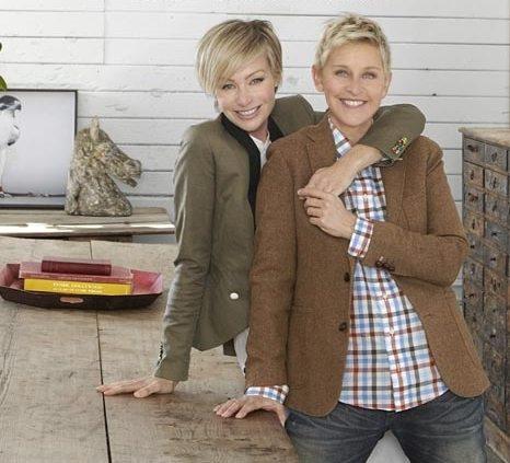 Ellen junto a su mujer Portia