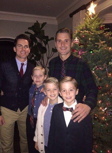 Matt Bomer, Simon Halls y sus tres hijos