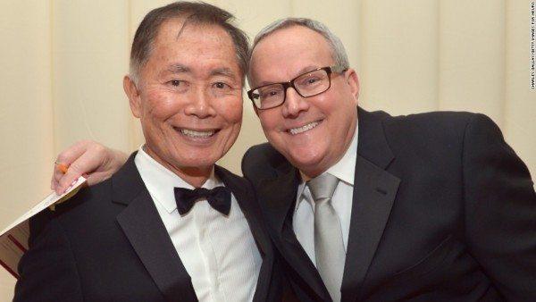 George Takei y su marido Brad Altman