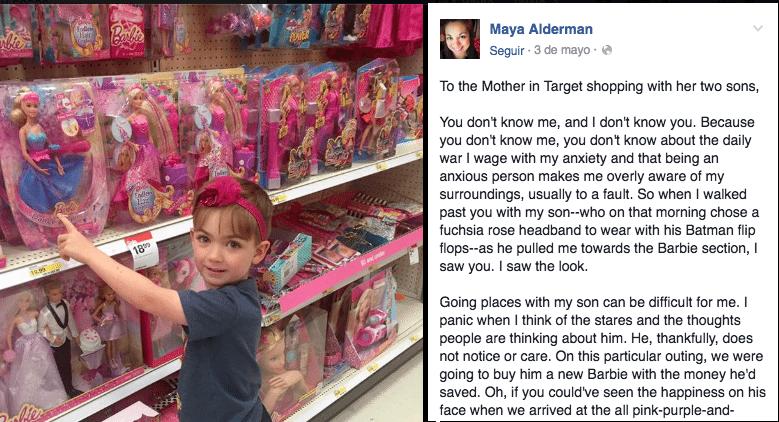 niño compra barbie