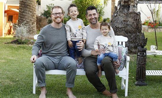 Bud y Manuel junto a sus hijos Álvaro y Carmen