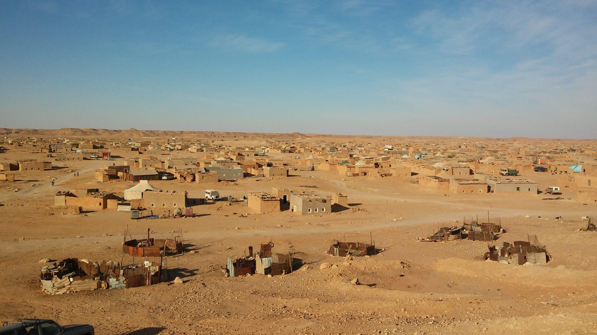Vista de los campamentos