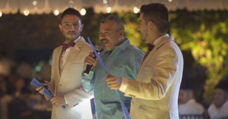 jorge mejía discurso boda de su hijo gay andres mejía