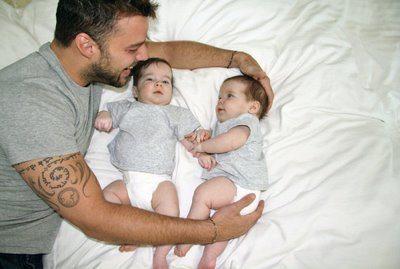 Ricky con Matteo y Valentino