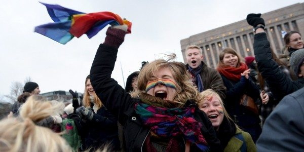 FINLAND-RIGHTS-GAY-MARRIAGE