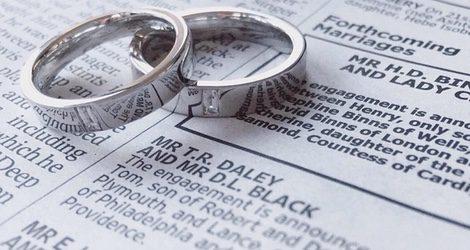Los anillos de compromiso de Tom y Dustin