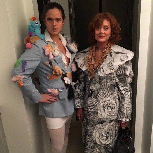 Susan Sarandon junto a su hijo Miles Robbins